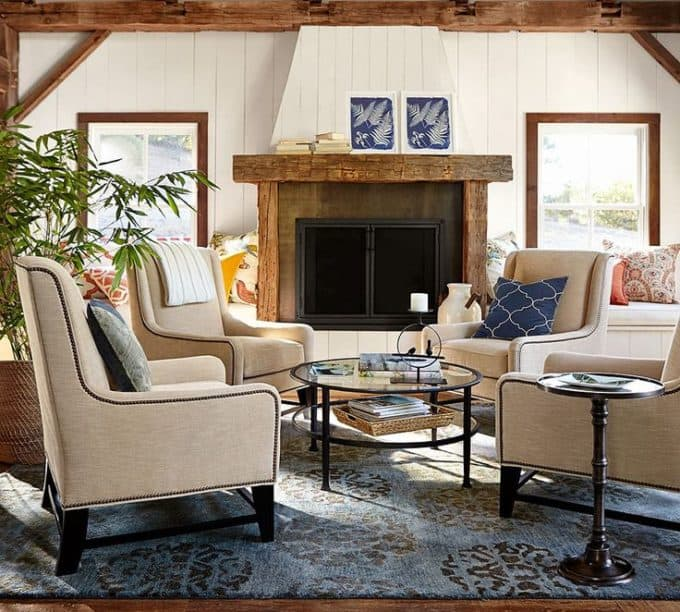 Pottery Barn upholstered chairs