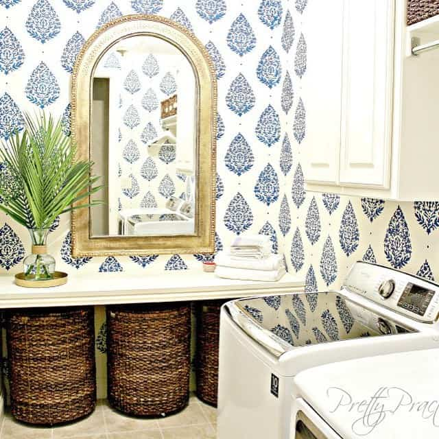 Pretty Practical Home Laundry Room