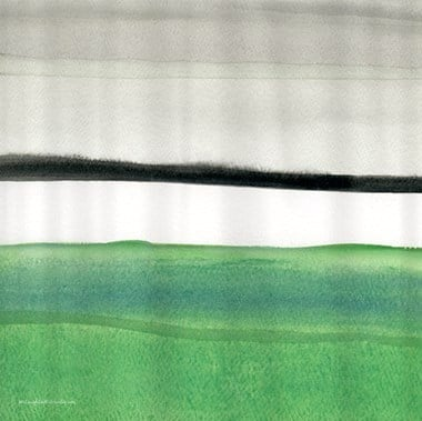 green_amp_black_abstract_shower_curtain