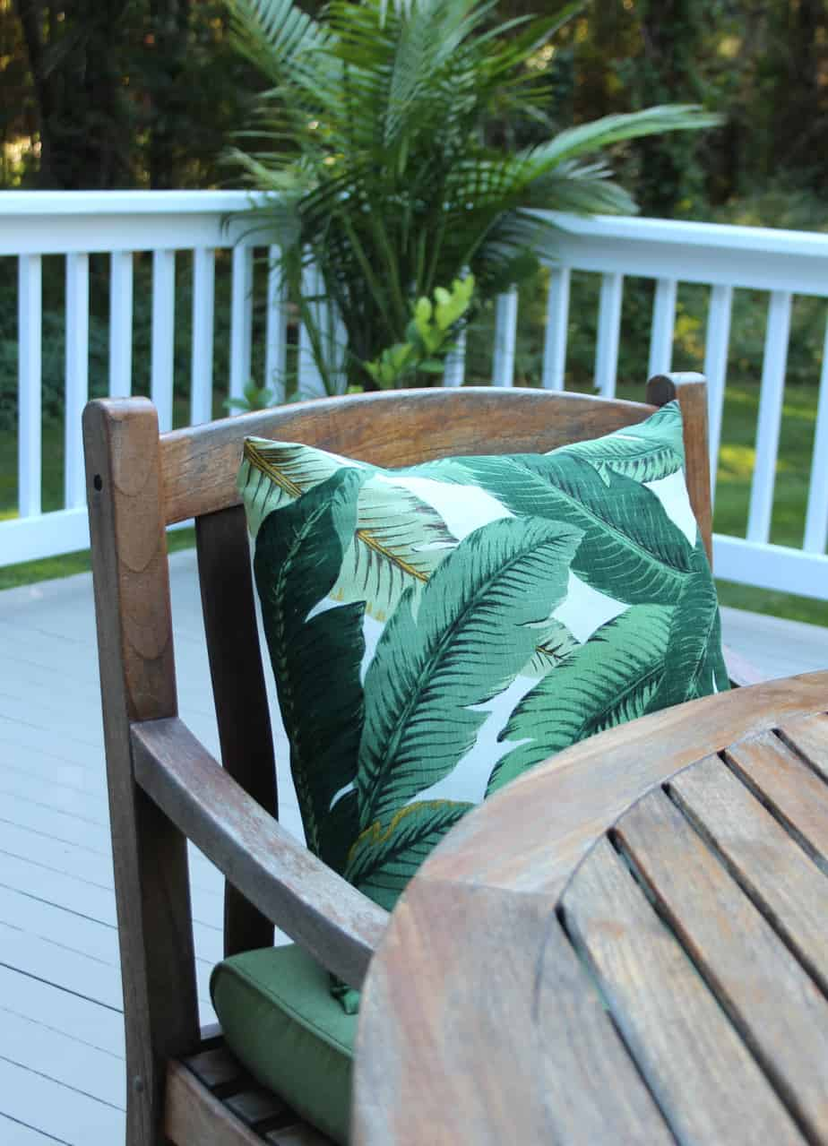 Tommy Bahama Swaying Palms outdoor pillows.