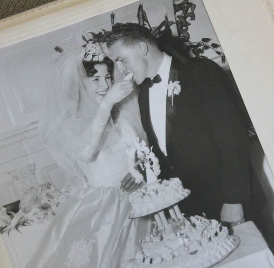 Old black and white wedding photo
