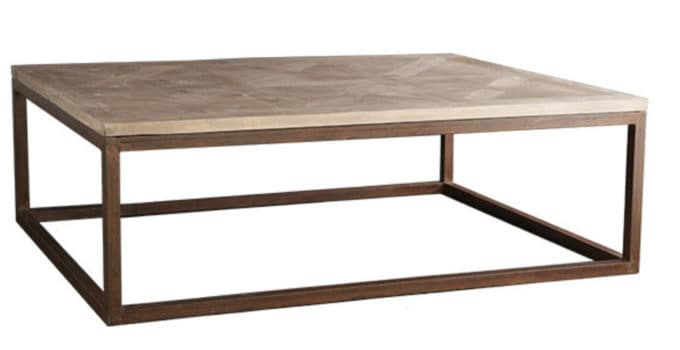 Parquet Wood Amp Metal Coffee Tables Shine Your Light