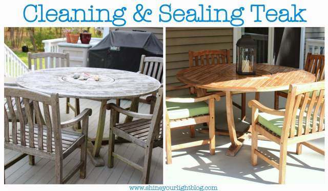 Cleaning and Sealing Teak