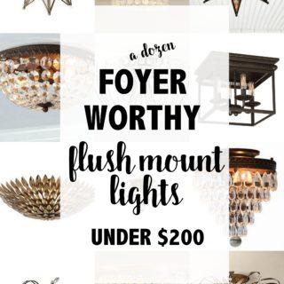 Foyer Flush Mount Lighting