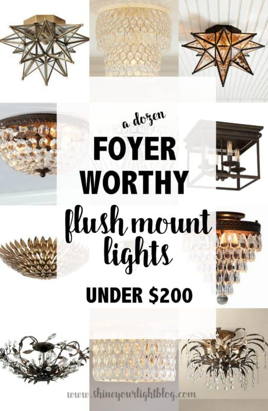Foyer Flush Mount Lighting