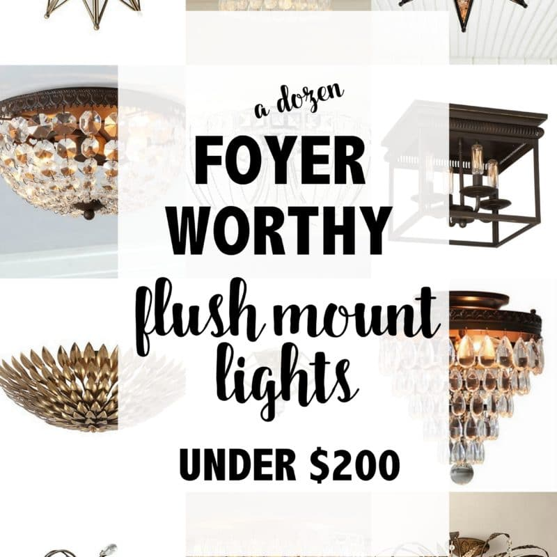 Foyer-Worthy Flush Mount Ceiling Lights