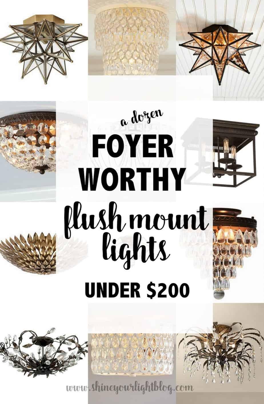 Foyer Worthy Flush Mount Ceiling Lights Shine Your Light