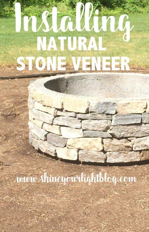 Gravel Patio Fire Pit Project Installing Stone Veneer Shine