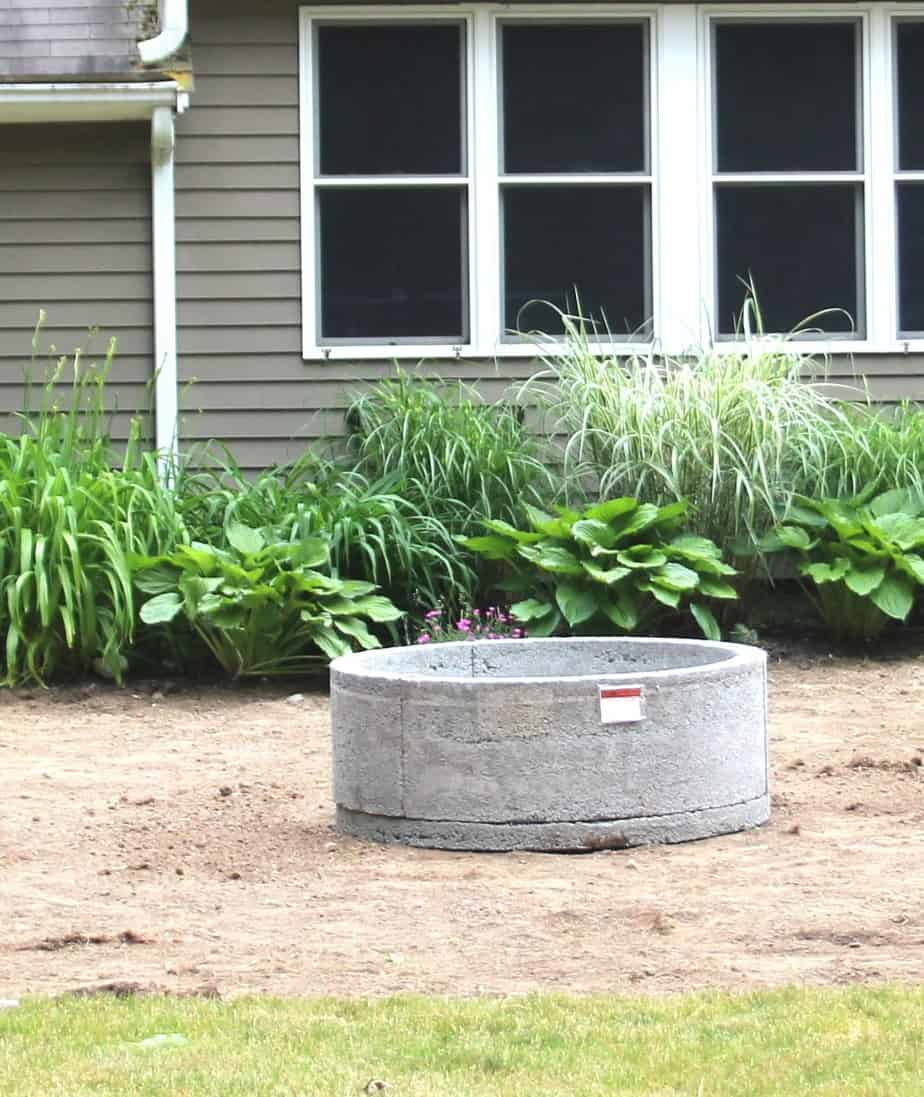 Gravel Patio & Fire Pit Project: Removing Sod - Shine Your Light