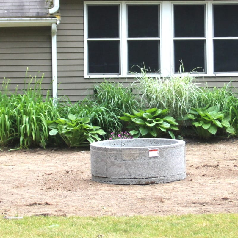 Gravel Patio & Fire Pit Project:  Removing Sod