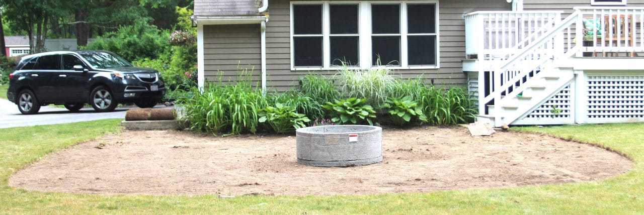 Using a sod cutting machine makes the removal of grass much easier than doing it by hand.
