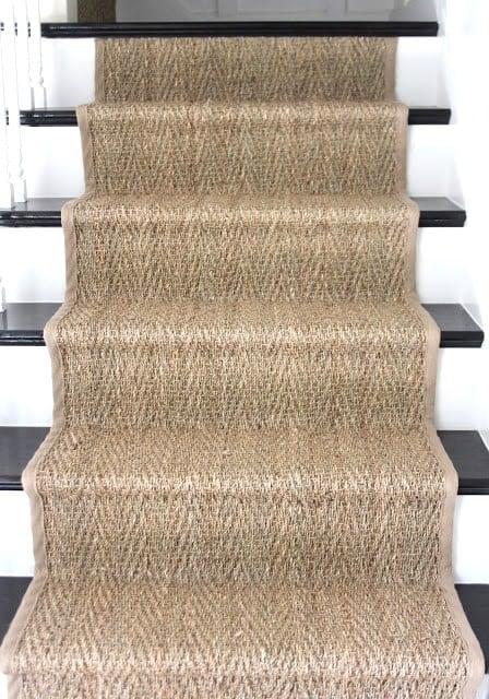 Seagrass stair runner