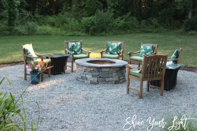 Shine Your Light Pea Stone Patio