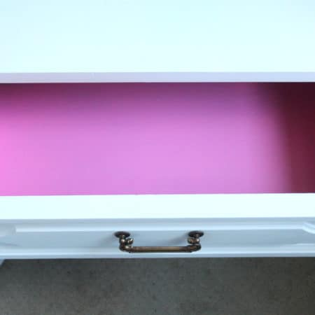 Hot pink drawer interior