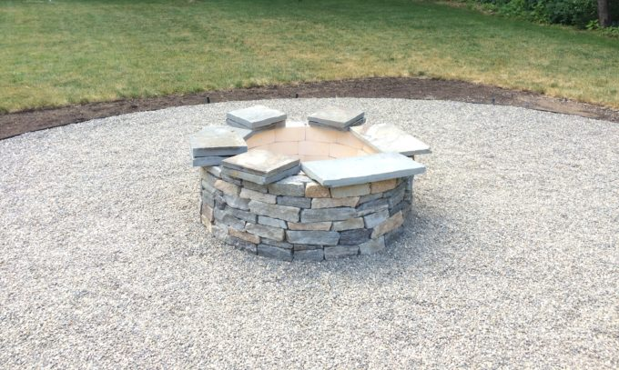 Installing A Capstone The Fire Pit Project Shine Your Light