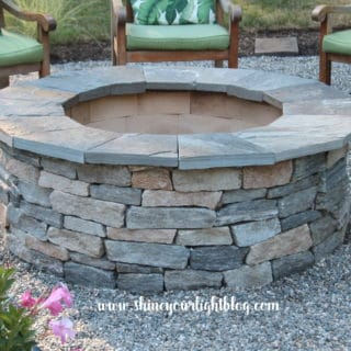 build a natural stone fire pit