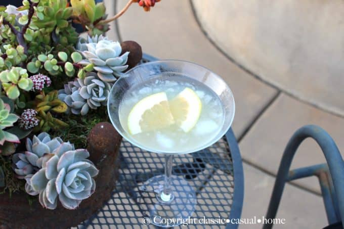 A grapefruit martini recipe by Mary Ann of Classic Casual Home.