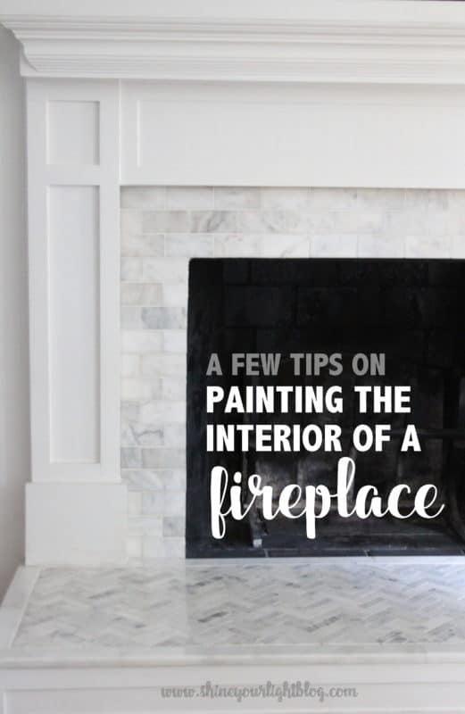 painting a fireplace whitePainting The Interior Of A Fireplace  Shine Your Light