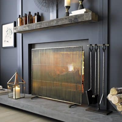 antiqued-brass-fireplace-screen