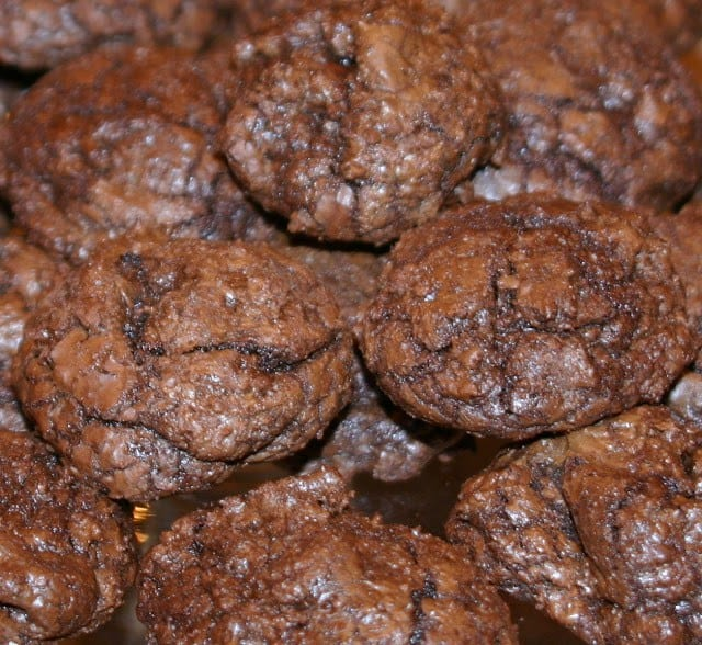 Decadent chocolate cookies make a wonderful holiday treat.