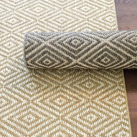 Rug runners for stairs - Ballard Designs Diamond Rug