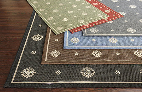Rug runners for stairs - Ballard Designs Navarre Indoor/Outdoor Rug