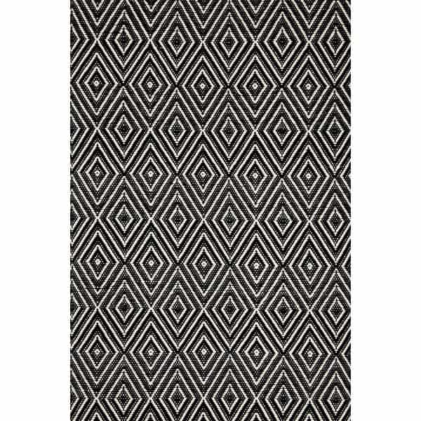 Rug runners for stairs - black and white diamond pattern