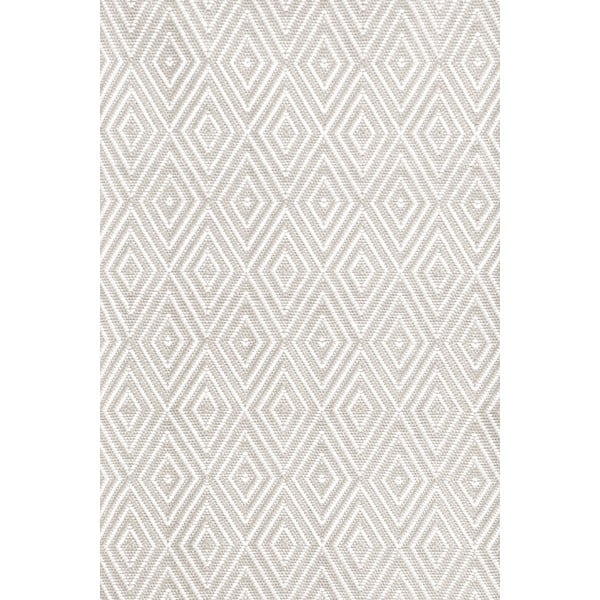 Rug runners for stairs - platinum and white diamond patterned indoor outdoor rug