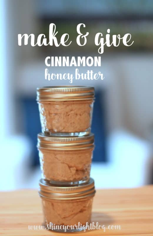 Gift jars of homemade cinnamon honey butter are easy to whip up.