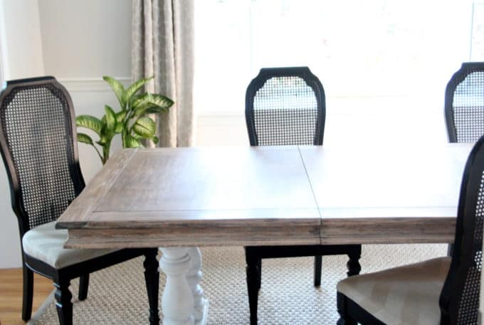 Dining Table before being set