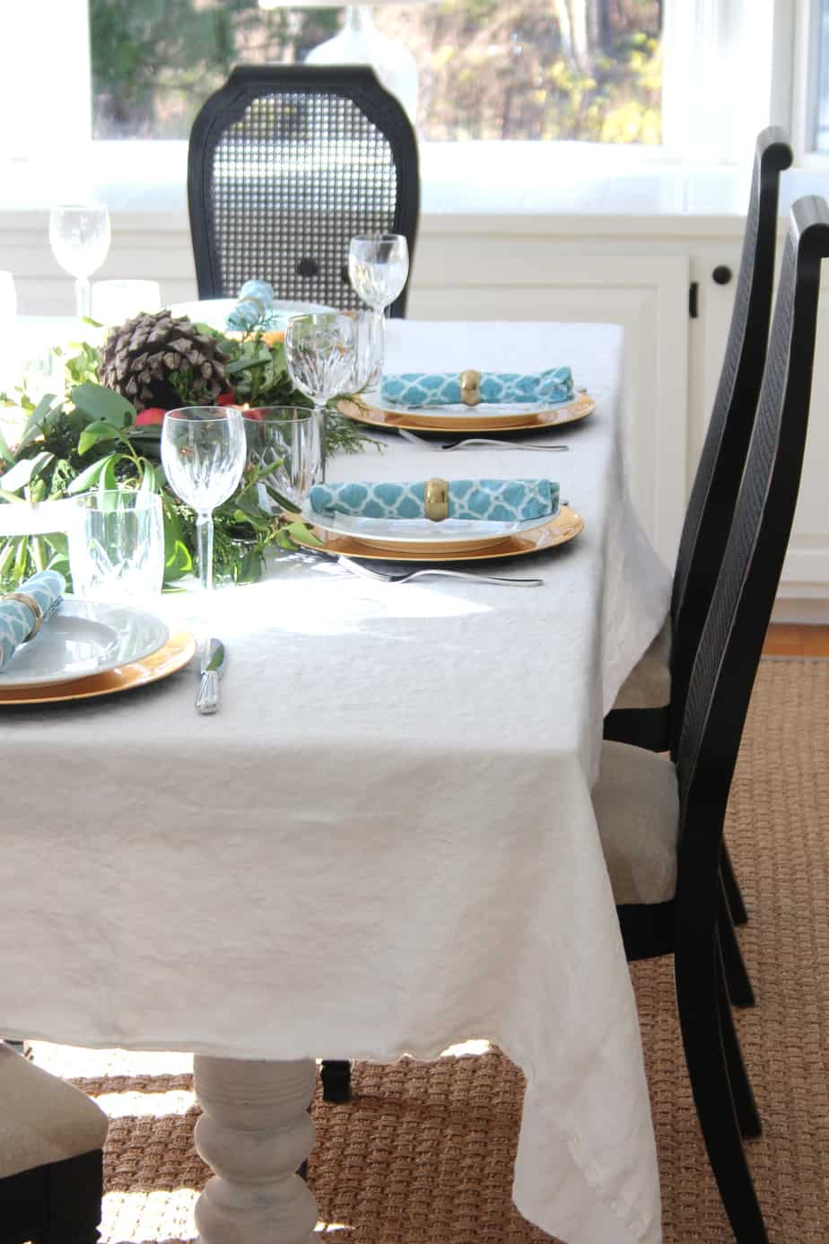 A vintage tablecloth is beautiful with all it's imperfections.