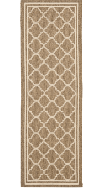Rug runner for stairs - trellis patterned indoor outdoor rug