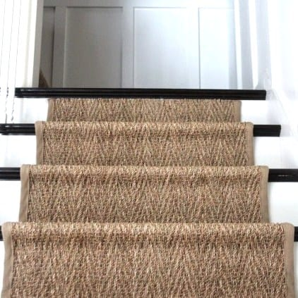 Shine Your Light Seagrass Stair Runner