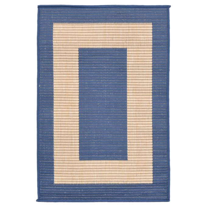 Rug runners for stairs - cobalt blue indoor outdoor runner