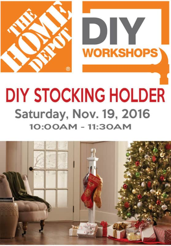 Lantern topped christmas stocking post shine your light the home depot diy workshop diy stocking holder solutioingenieria Image collections