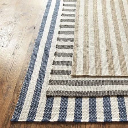 Rug runners for stairs - Ballard Designs Vineyard Stripe wood rug