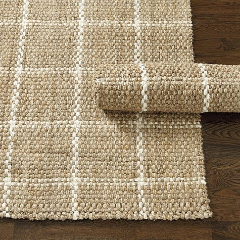 Rug runners for stairs - Ballard Designs Windowpane Jute Rug