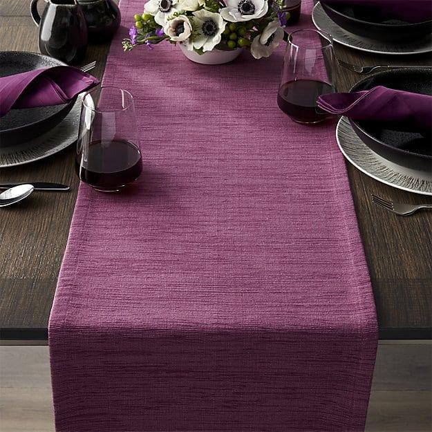 grasscloth-90-violet-table-runner