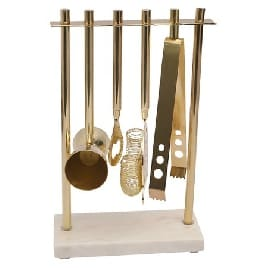 Target marble and gold bar accessory set