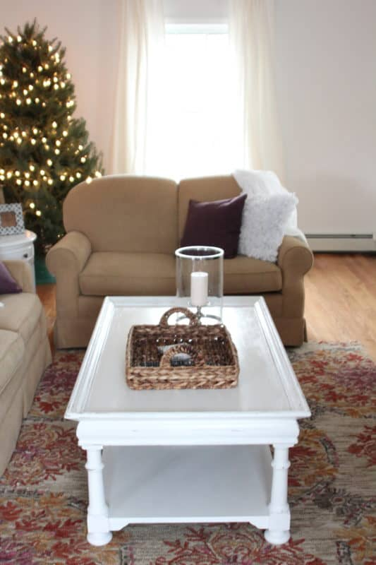 A coffee table and tray that hail from thrift stores are given a fresh start.