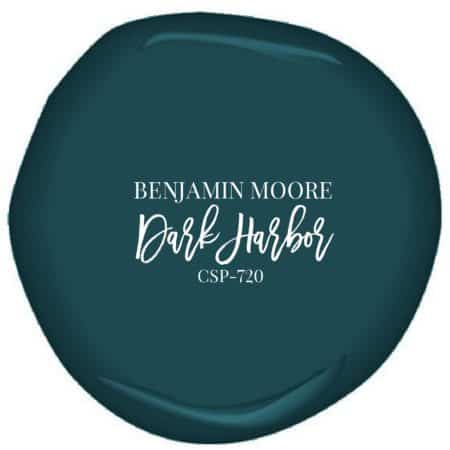 Benjamin Moore's Dark Harbor paint