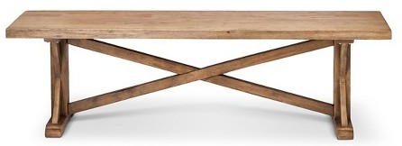 Target's Harvester Bench can double as mudroom and dining room seating.