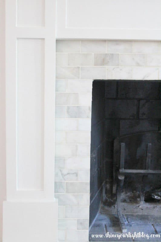 How to tile over a brick fireplace surround