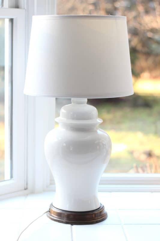 DIY lamp shade adaptor fixes a crooked shade.