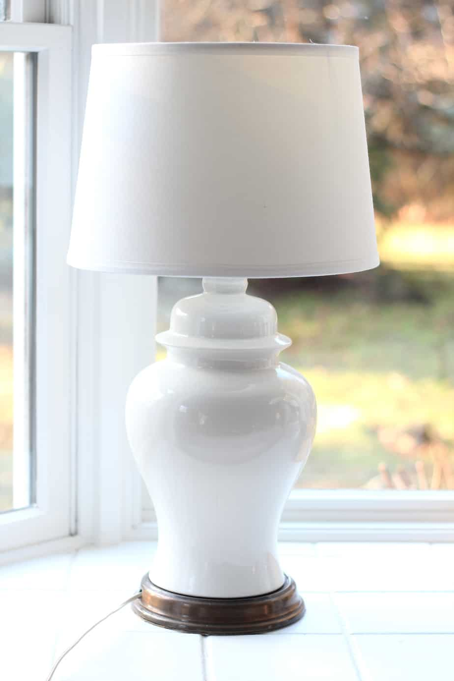 DIY lamp shade adaptor fixes a crooked shade.