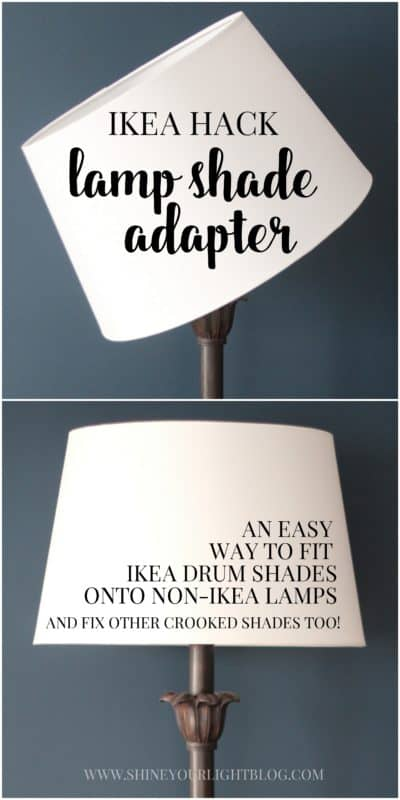 How to fit ikea shades onto non ikea lamps and fix other crooked i hope you enjoyed this little trick to make inexpensive shades work on your lamps aloadofball Choice Image