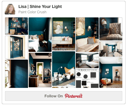See paint colors used in interiors and on furniture on this Pinterest board