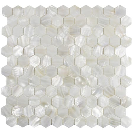 Mother of Pearl Hexagon tile from CNK Tile on Etsy