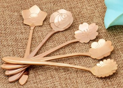 Copper tea spoons