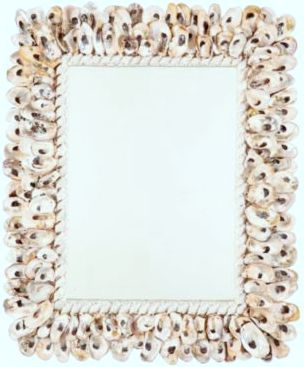 Oyster shell mirror by Ballard Designs
